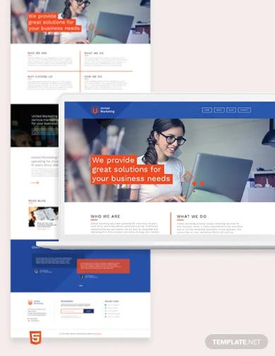 marketing firm bootstrap landing page template