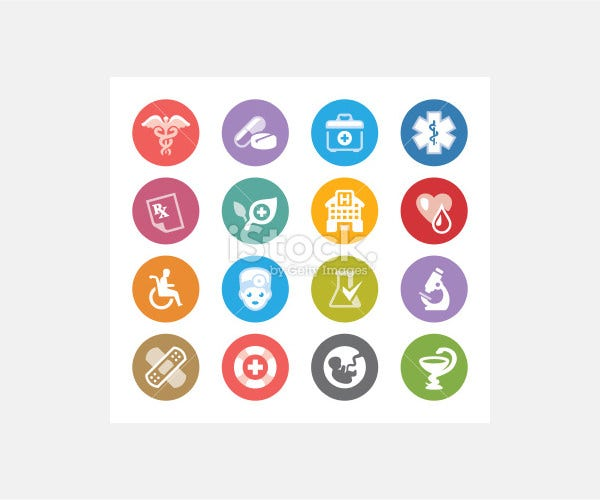 Medical Symbols / Wheelico icons - Illustration