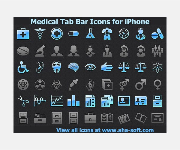 Medical Tab Bar Icons