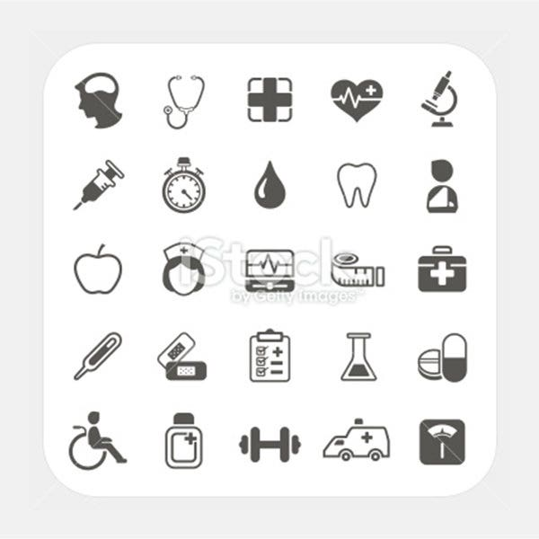 Medical and health icons set - Illustration
