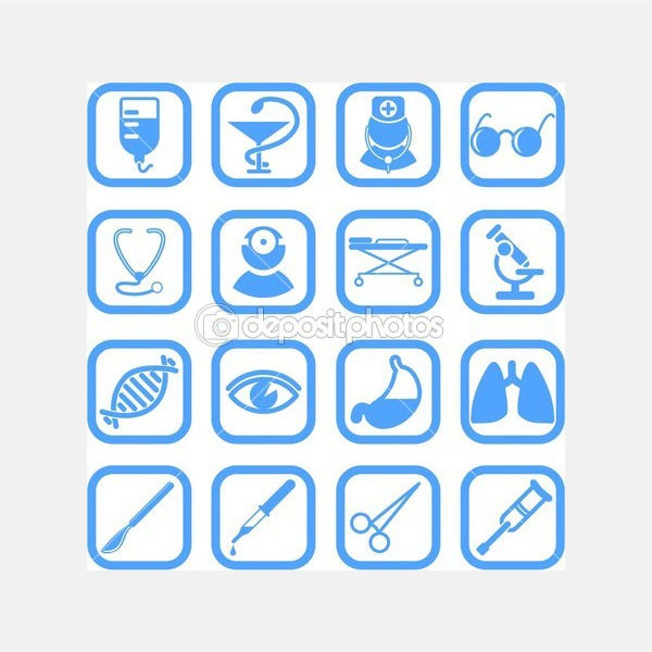 Medical icons - Stock Illustration