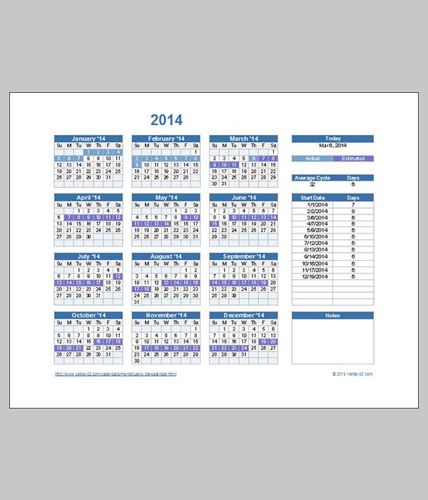 Menstrual Calendar 2014   newhairstylesformen2014.com