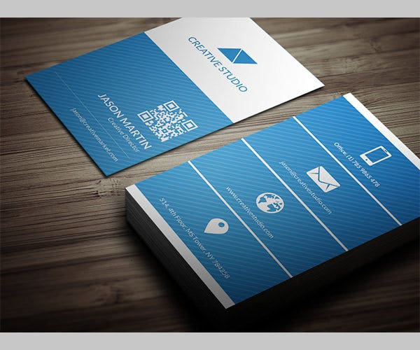 metro flat business card