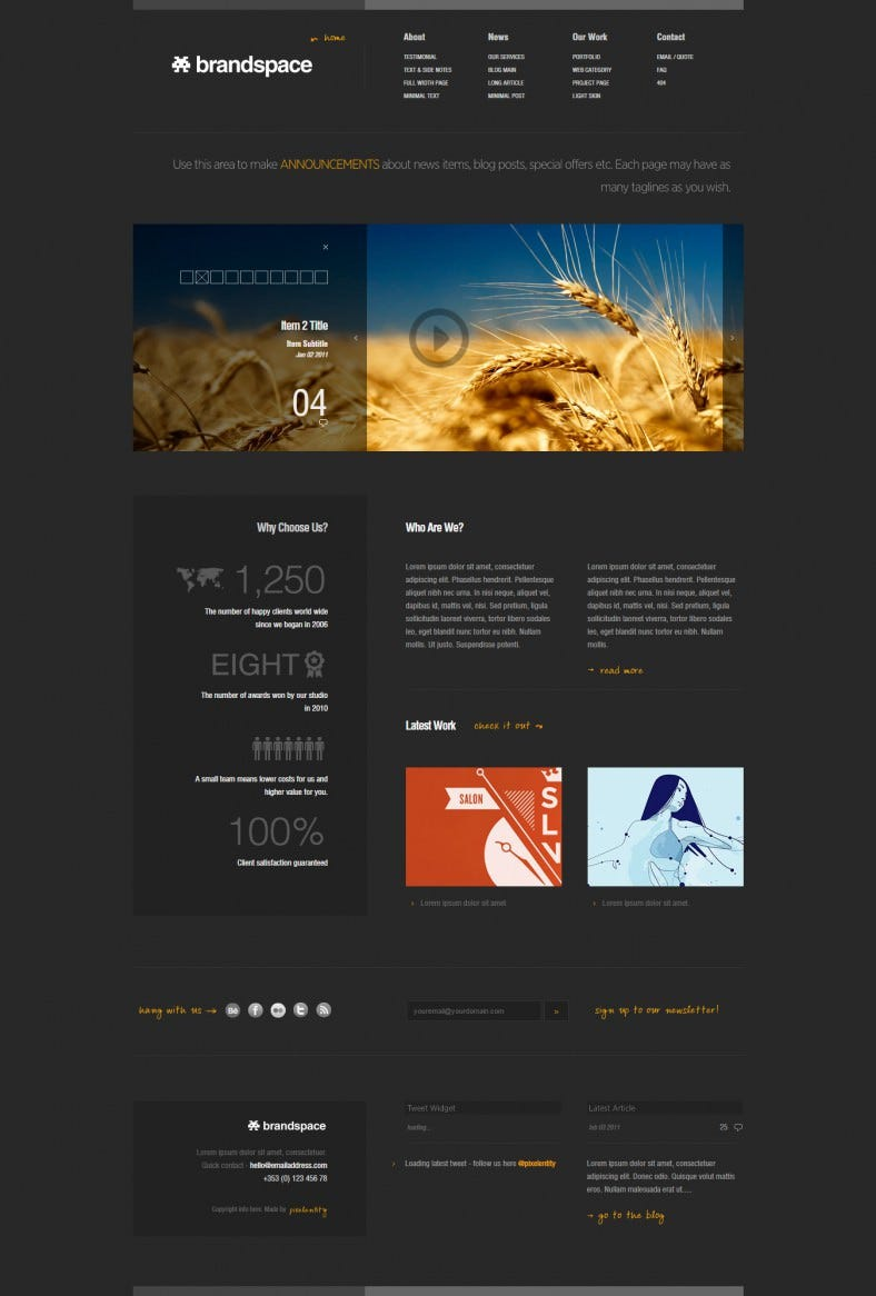 Minimal Portfolio & Business Website Template