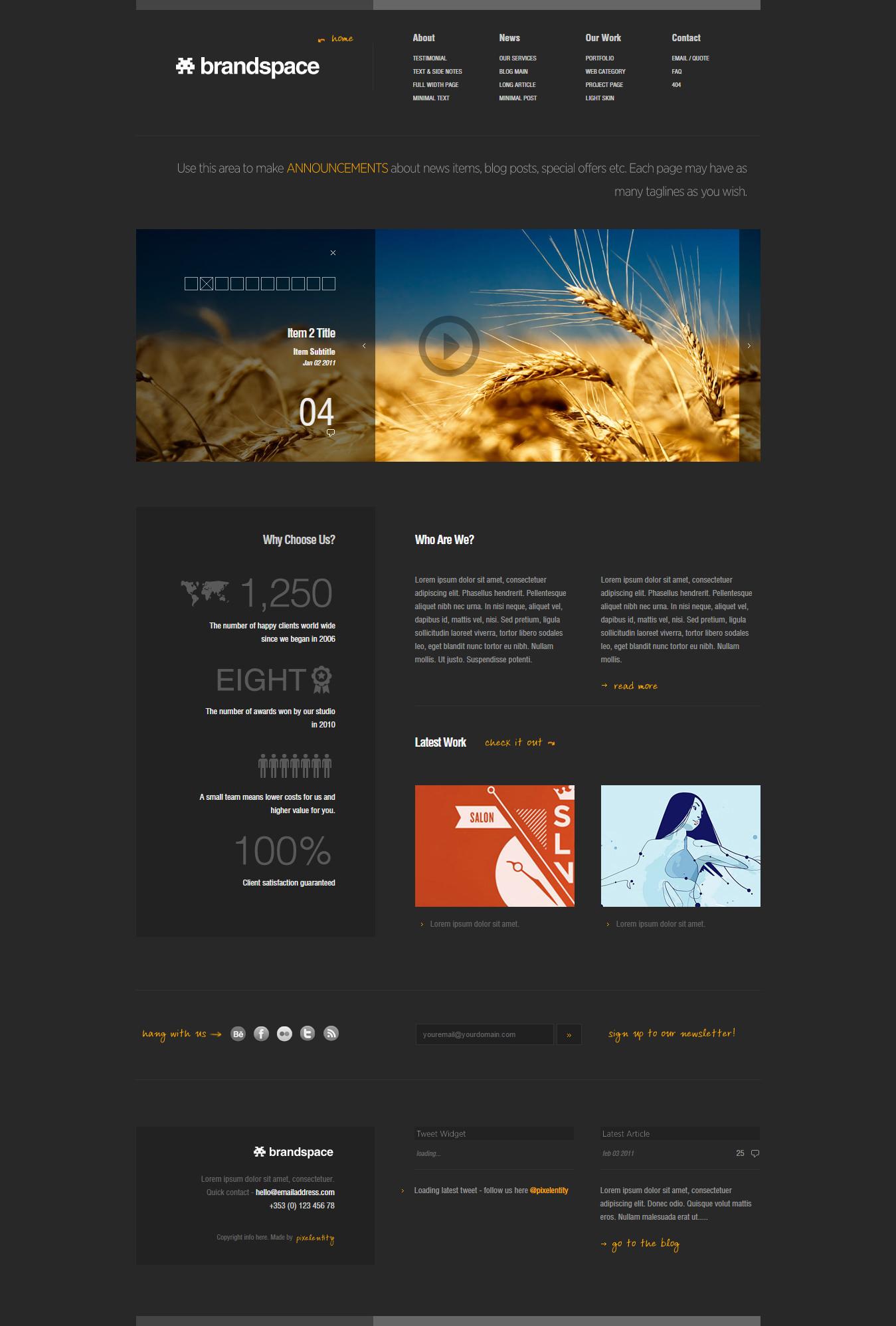 minimal portfolio business website template