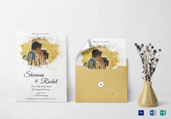 modern engagement invitation template