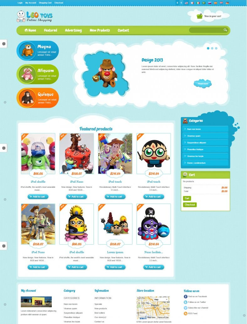 Baby store prestashop website templates themes free for Presta shop templates