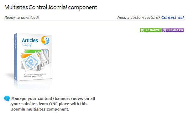 multisites control joomla