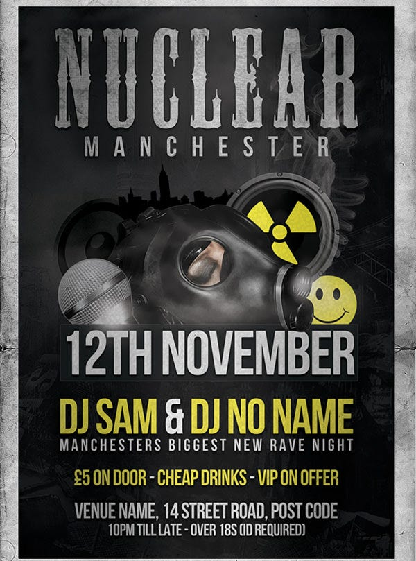 nuclear flyer template psd