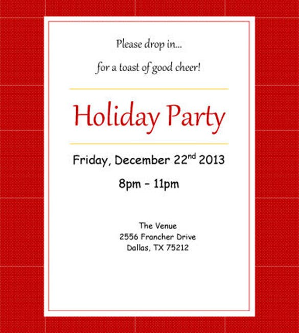 Invitation Template Free Word PSD Vector Illustrator - Party invitation template: elegant christmas party invitation template