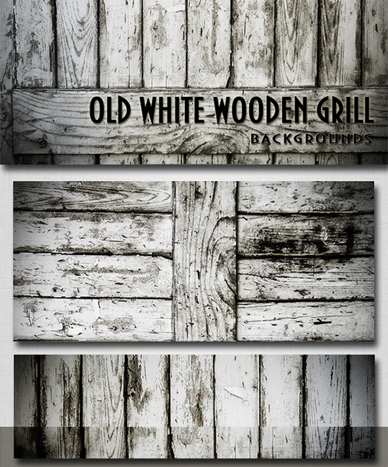 old white wooden grill