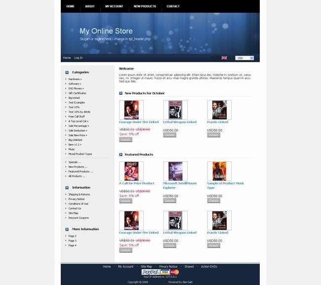Zen Cart Website Templates & Themes | Free | Free & Premium Templates