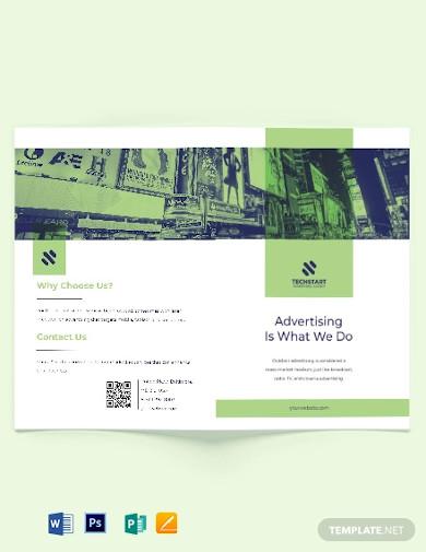 outdoor advertising bi fold brochure template
