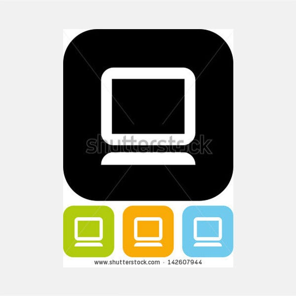 PC Computer Vector icon isolated
