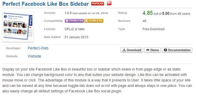 Perfect Facebook Like Box Sidebar