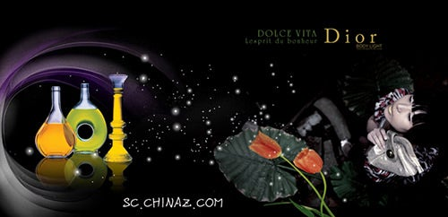 perfume advertising design psd template