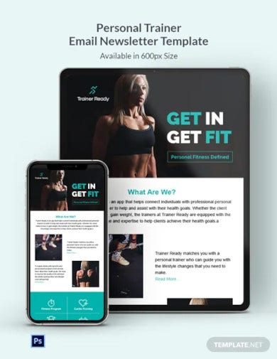 personal trainer email newsletter template