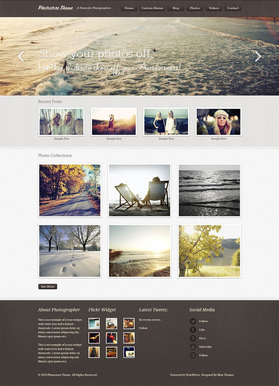 photostore theme a theme for photographers