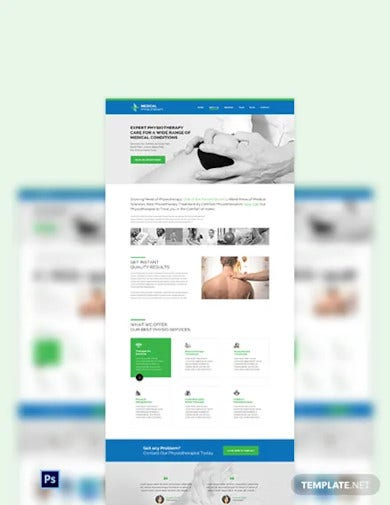 physiotherapy psd landing page template1