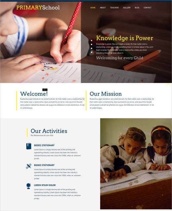 Primary School Education Flat Responsive Web Template