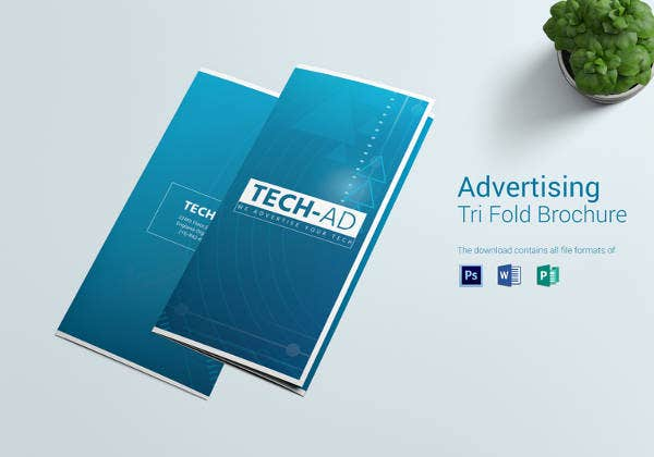 printable advertising tri fold brochure design