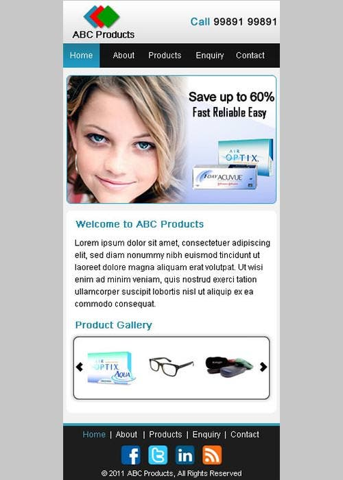 Product Promo Mobile Theme