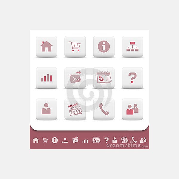 Professional web icons buttons vector set
