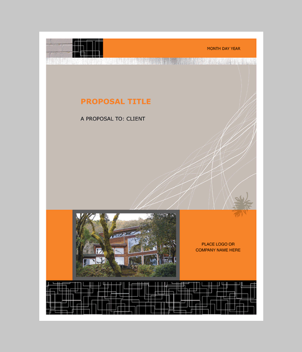 Proposal (Realty Modern Design)  Free Word Templates