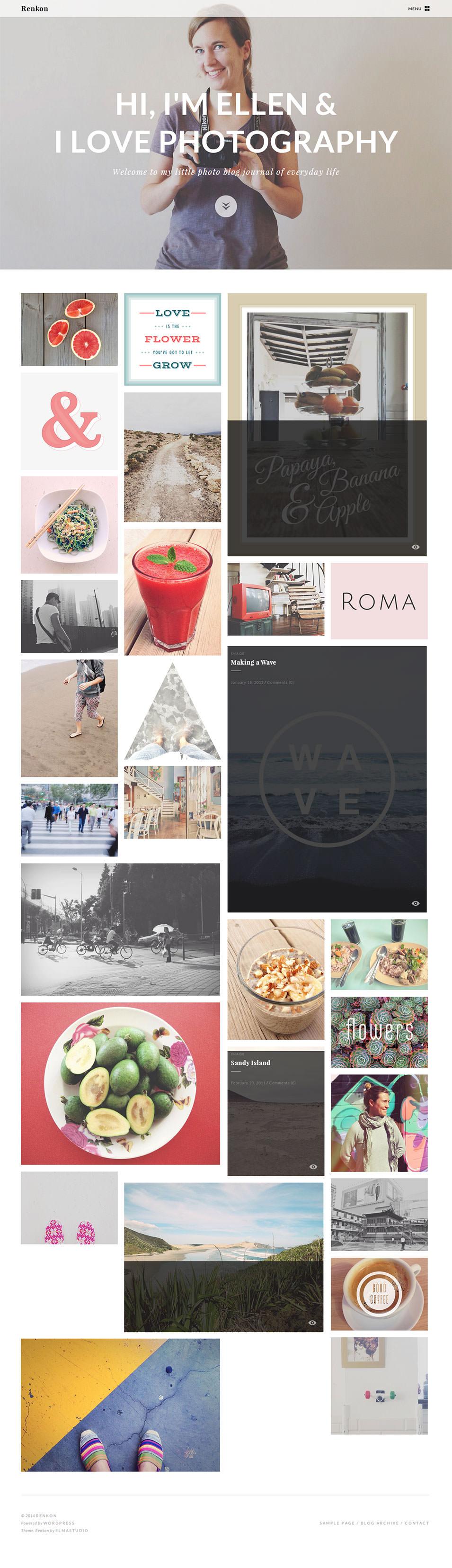 renkon premium photo blog theme by elmastudio