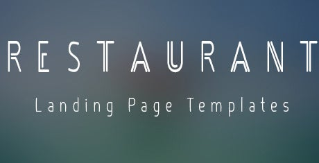restaurant landing page templates