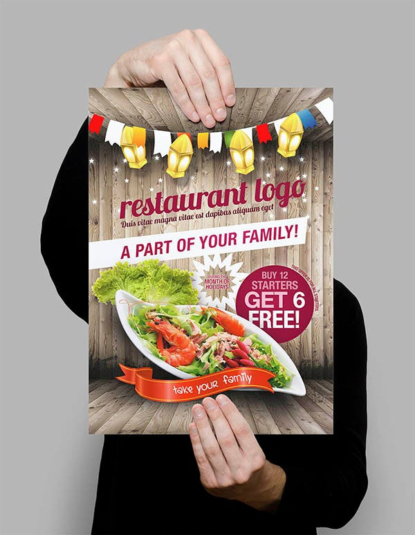 restaurant styled flyer template