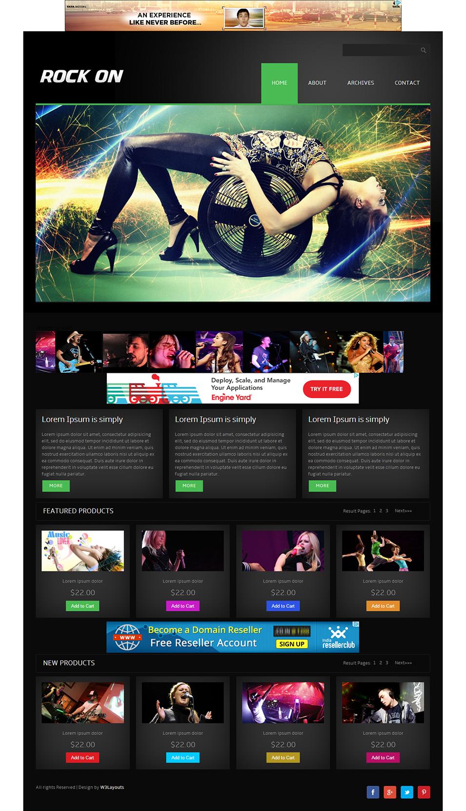 15 music html5 templates themes free premium templates. Black Bedroom Furniture Sets. Home Design Ideas