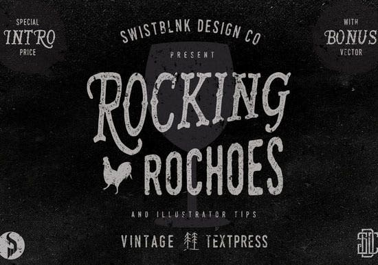 rocking rochoes typeface