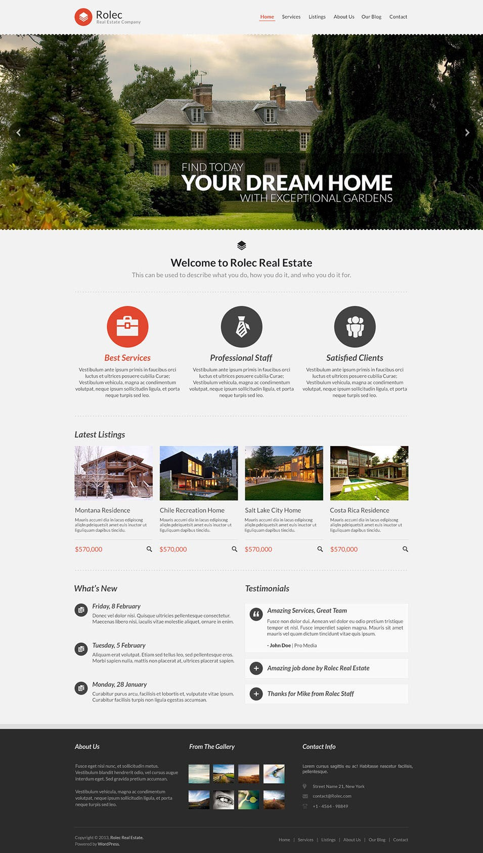 real estate website themes templates premium templates