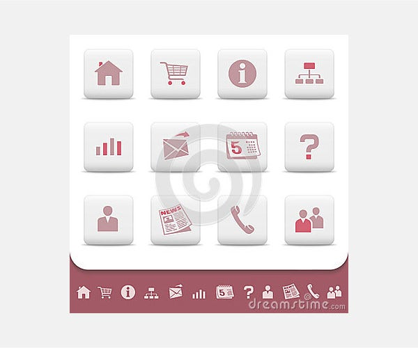 Royalty Free Stock Image: Professional web icons buttons vector set