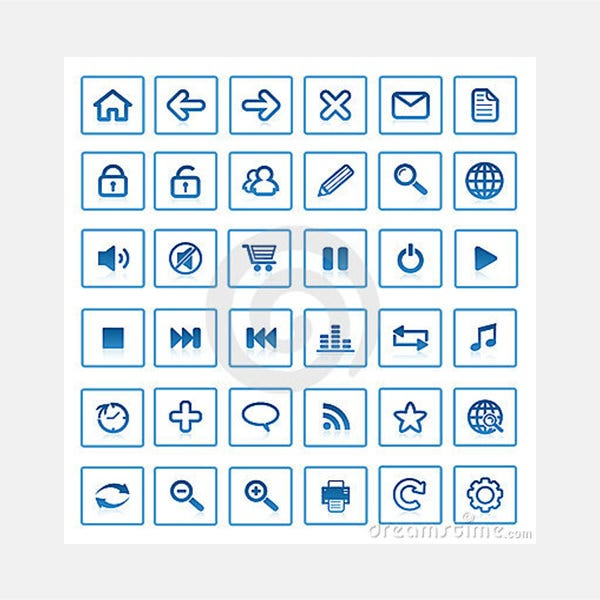 Royalty Free Stock Photo: Vector internet icons