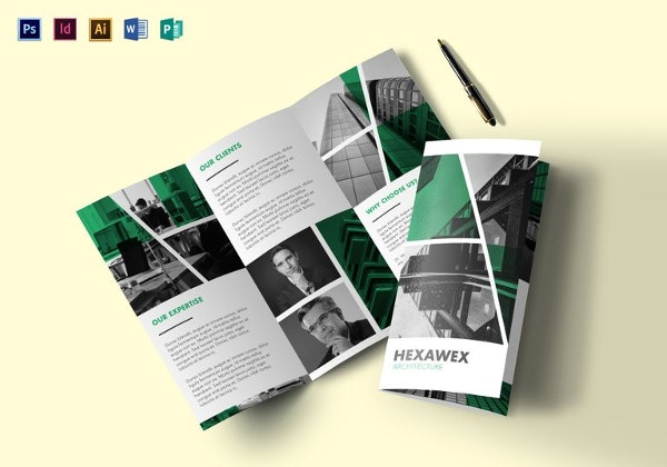 sample tri fold multipurpose brochure template