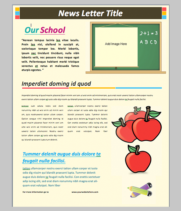 10 Best Word Document Newsletter Templates Free Free   Premium m7LXereO
