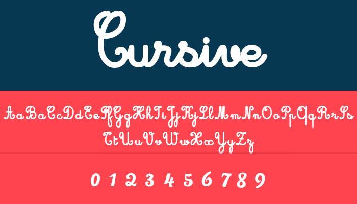 script cursive font