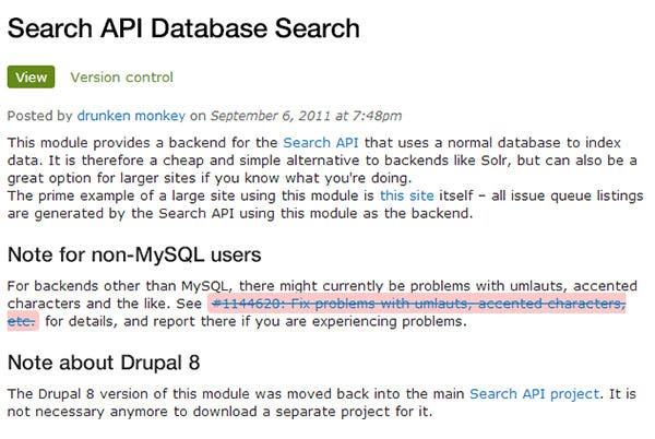 search api database search