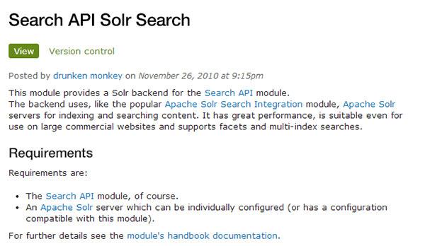 search api solr search