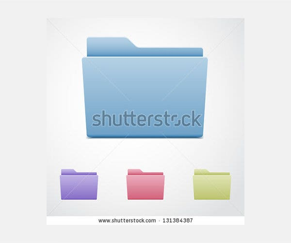 Set of computer folders