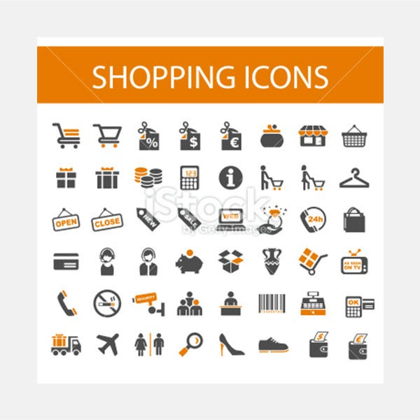 Shopping Icons. - Illustration