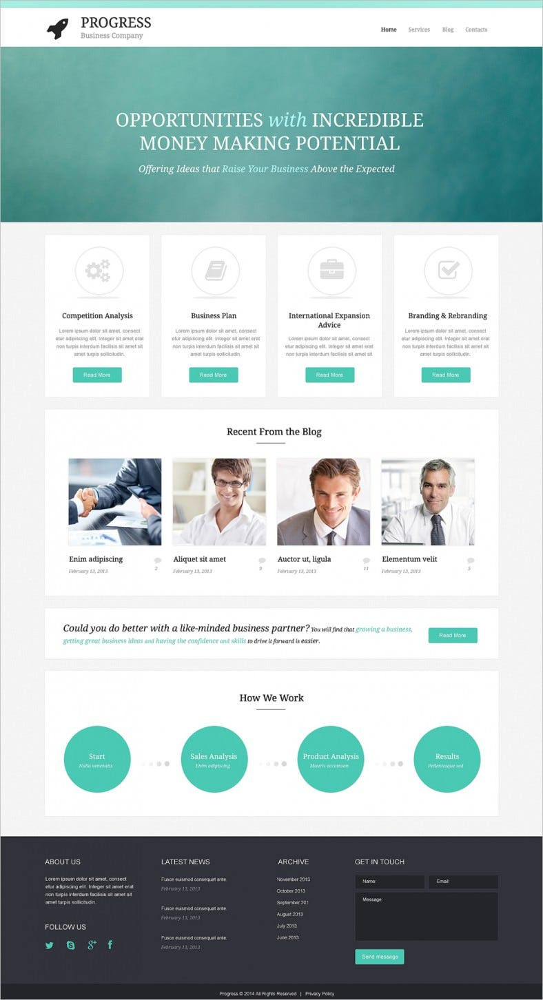 Simple Build Grow Startup WordPress Theme