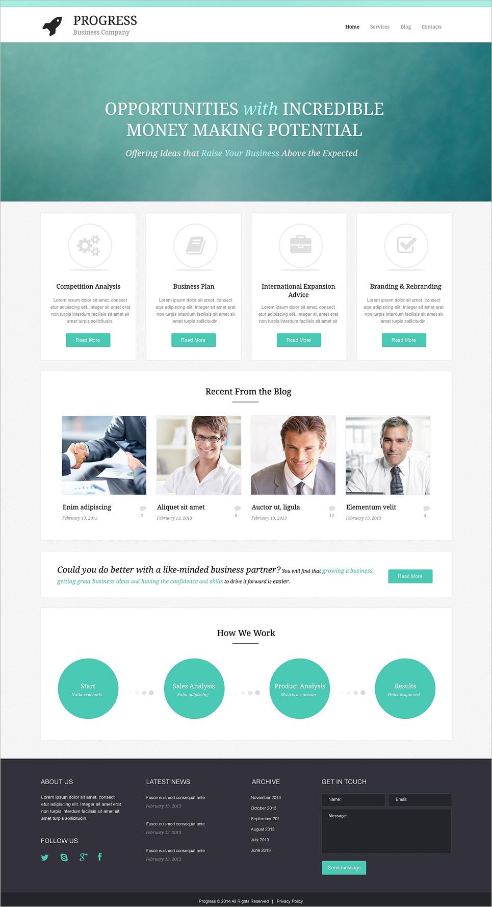 simple build grow startup wordpress theme