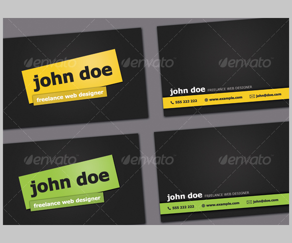 Simple Dark Business Card