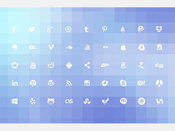 Simple Social Media Icons