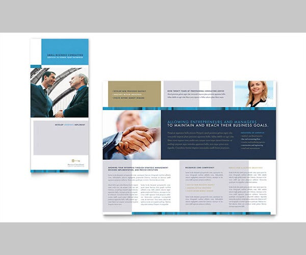 Small Business Consulting Tri Fold Brochure Template