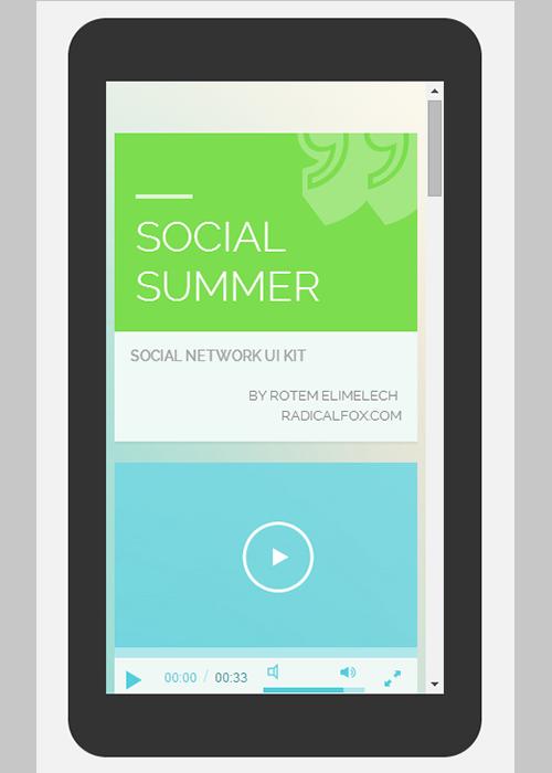 Social Summer UI KIT Flat Responsive web template