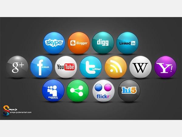 social media icons 25566